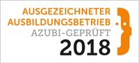 Ausgezeichneter Ausbildungsbetrieb 2018 - azubigeprüft